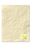 Papel de letra amarelo Fotografia de Stock Royalty Free
