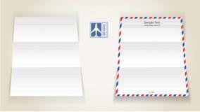 Papel de letra de correo aéreo Fotos de archivo