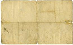Papel de letra envelhecido Fotos de Stock Royalty Free