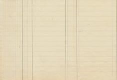 Papel de libro mayor alineado antigüedad Imagen de archivo