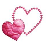 Papel de los corazones libre illustration
