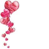 Papel de los corazones ilustración del vector