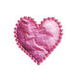 Papel de los corazones stock de ilustración