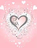 Papel de los remolinos y de los corazones [VECTOR] fotografía de archivo