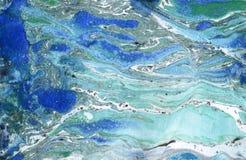 Papel de mármore Textura de mármore da tinta ilustração stock