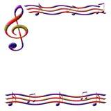 Papel de música Imagen de archivo libre de regalías