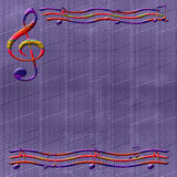 Papel de música Imagem de Stock