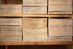 Papel de música del rodillo del órgano Imagen de archivo libre de regalías