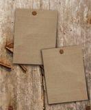 Papel de madeira da extremidade dois Imagem de Stock