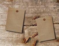 Papel de madeira da extremidade dois Imagens de Stock Royalty Free