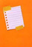 Papel de nota Foto de archivo