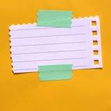 Papel de nota Foto de archivo libre de regalías