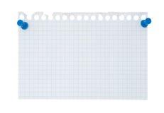 Papel de nota Imágenes de archivo libres de regalías