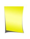 Papel de nota amarelo Imagem de Stock