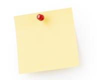 Papel de nota amarelo Fotos de Stock Royalty Free