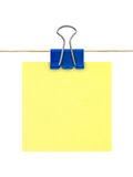 Papel de nota amarelo do post-it Fotografia de Stock Royalty Free