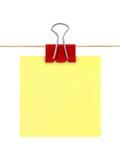 Papel de nota amarillo de post-it Foto de archivo libre de regalías
