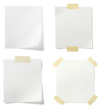 Papel de nota blanco Fotos de archivo libres de regalías