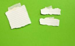 Papel de nota branco Fotografia de Stock