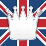Papel de nota británico Fotografía de archivo