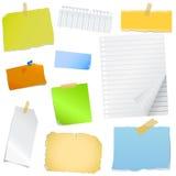 Papel de nota colorido Imagem de Stock