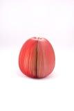 Papel de nota com forma da maçã Foto de Stock Royalty Free