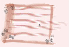 Papel de nota da cor-de-rosa de Rosa Fotografia de Stock