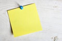 Papel de nota de Bllank Imagens de Stock
