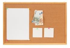 Papel de nota de la memoria con concepto euro de los dineros Foto de archivo