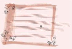 Papel de nota del color de rosa de Rose Fotografía de archivo