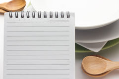 Papel de nota del menú o de la receta fotografía de archivo