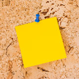 Papel de nota do post-it Fotos de Stock