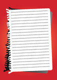 Papel de nota do vetor Fotografia de Stock Royalty Free