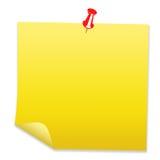 Papel de nota em branco Fotografia de Stock