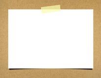 Papel de nota em branco Imagens de Stock