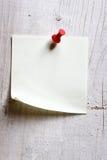 Papel de nota em branco Foto de Stock