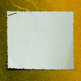 Papel de nota em branco no fundo textured Fotografia de Stock