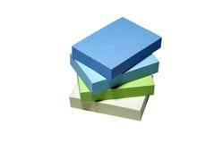 Papel de nota empilhado. Imagens de Stock