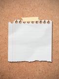 Papel de nota en blanco. Foto de archivo libre de regalías