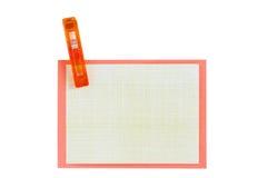 Papel de nota en blanco acortado junto Imagen de archivo libre de regalías