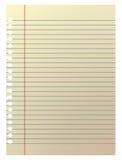 Papel de nota llano en la ilustración Imagen de archivo