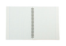 Papel de nota verificado no branco fotografia de stock