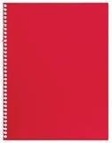 Papel de nota vermelho, única folha da textura rasgada vazia do fundo do caderno do jotter isolada Fotografia de Stock