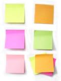 Papel de notas coloreado Fotos de archivo