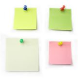 Papel de notas coloreado Imagen de archivo libre de regalías
