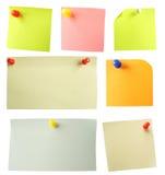 Papel de notas coloreado. Fotos de archivo