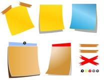 Papel de notas colorido Fotos de Stock