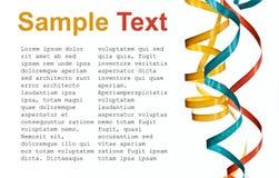 Papel de ondulação colorido do córrego com texto da amostra Foto de Stock