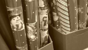 Papel de papel de embrulho do Natal Fotos de Stock