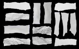 Papel de papel y rasgado rasgado Fotos de archivo libres de regalías